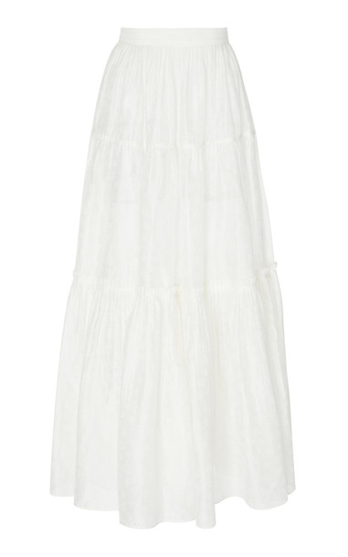 Ulla Johnson Jeune cotton skirt in white