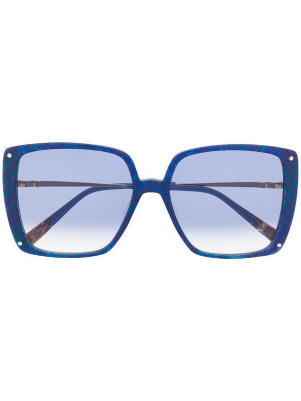 MISSONI EYEWEAR oversized abstract print sunglasses in blue