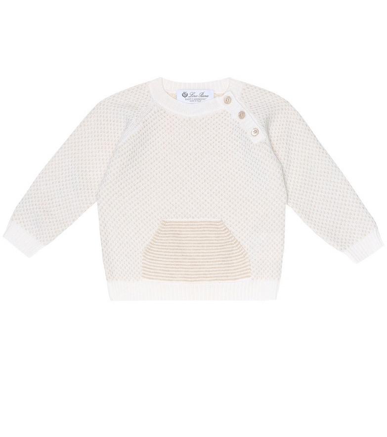 Loro Piana Kids Baby cashmere sweater in beige