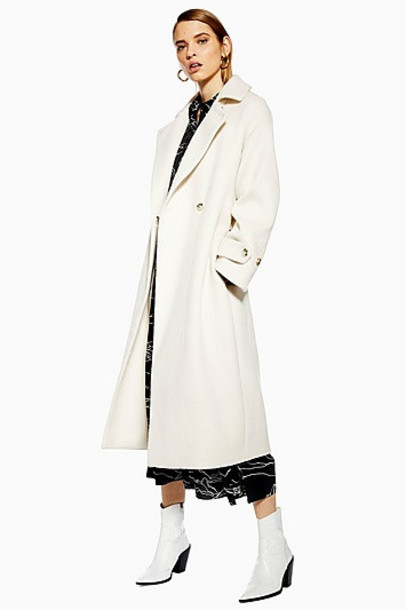 Topshop Trench Coat - Ivory