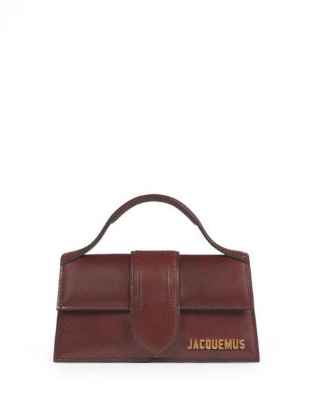 Jacquemus - Bambino Large Leather Handbag - Womens - Brown