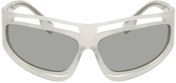 Burberry Off-White Eliot Sunglasses in beige