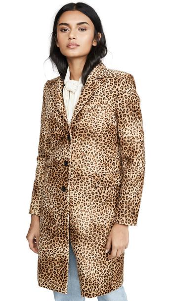 Nili Lotan Rosalin Coat in print / leopard
