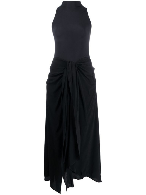 Ssheena halterneck mid-length dress in black