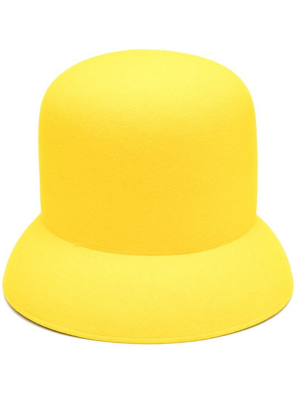 Nina Ricci felted cloche hat in yellow