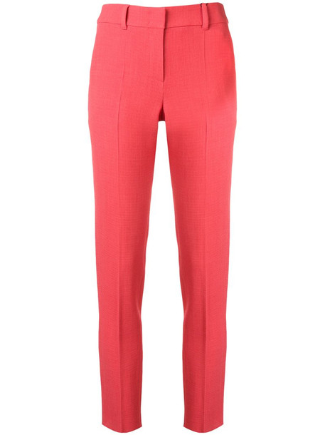 Emporio Armani skinny fit trousers in pink
