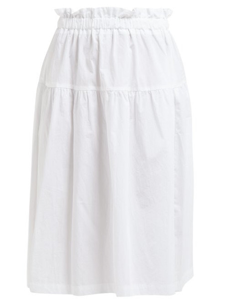 Araks - Ulu Paperbag Waist Cotton Skirt - Womens - White