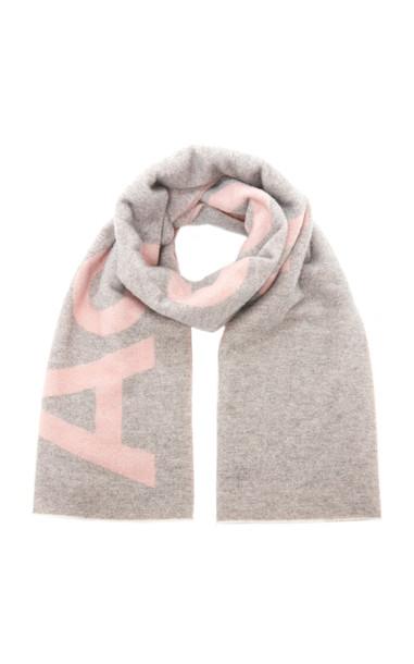 Acne Studios Toronty Logo Wool-Blend Scarf in pink