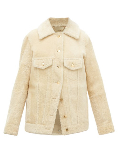 Chloé Chloé - Cropped Shearling Jacket - Womens - Cream