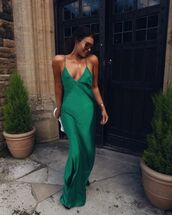 dress,maxi dress,slip dress,sandal heels,white bag