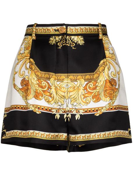 Versace VERSACE SHRTS SHORT HW BAROQUE SLK TWLL - Black