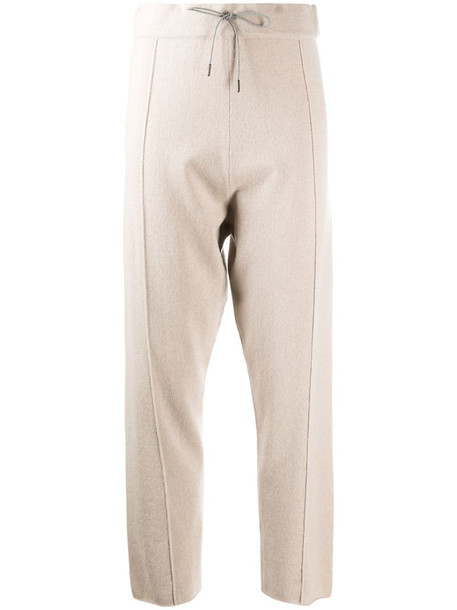 Fabiana Filippi dropped-crotch cropped trousers in neutrals