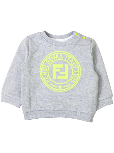 Fendi Sweatshirt With Newborn Logo in gray / yellow