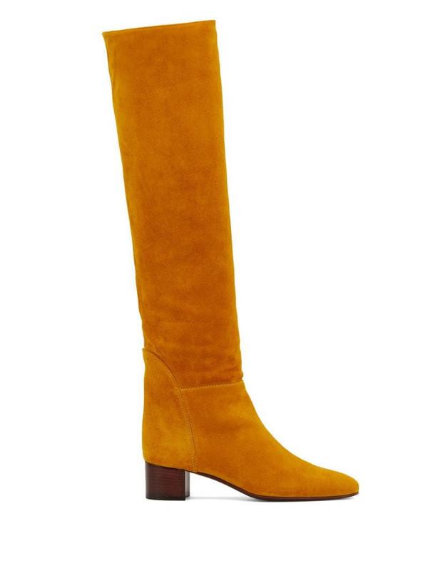 Giuseppe Zanotti Clelia knee boots in yellow