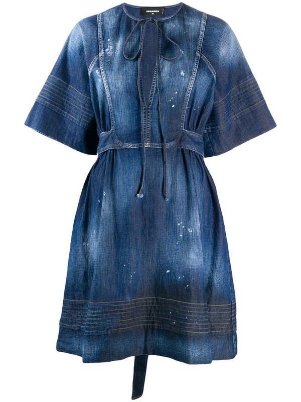 Dsquared2 denim georgette dress in blue
