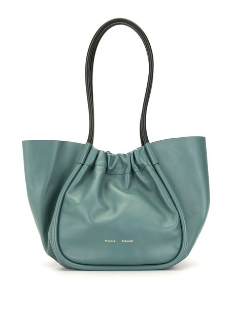Proenza Schouler smooth ruched tote bag in green