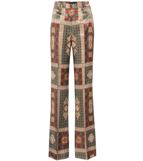 Etro High-rise printed pants in brown