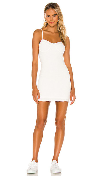 MAJORELLE Halle Bustier Dress in White