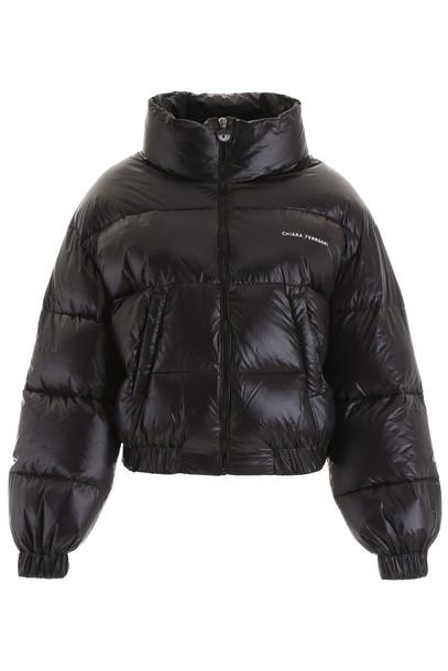Chiara Ferragni Logomania Puffer Jacket in black