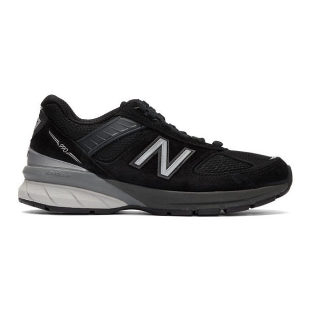 New Balance Black and Grey Made In US 990v5 Sneakers