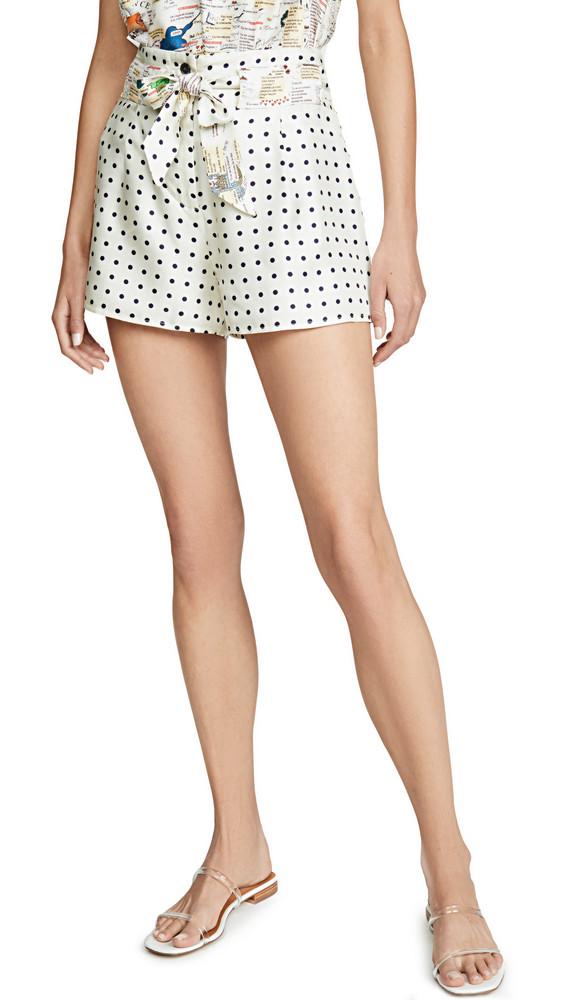 La Prestic Ouiston Mumbai Polka Dot Shorts in black / beige