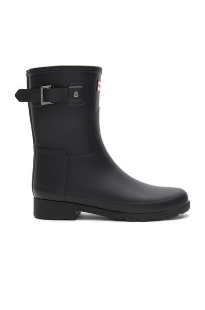 Hunter Original Refined Short Boot in black