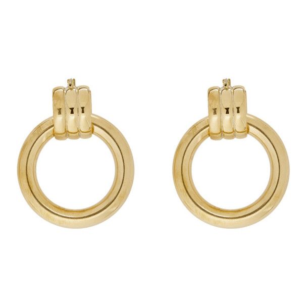 Laura Lombardi Gold XL Grazia Hoop Earrings