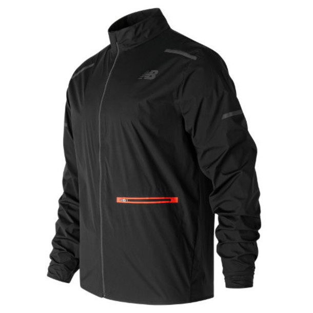 New Balance 71207 Men's Precision Run Jacket - Black/Red (MJ71207BK)