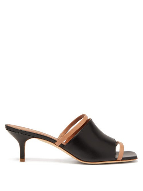 Malone Souliers - Laney Leather Mules - Womens - Black Nude