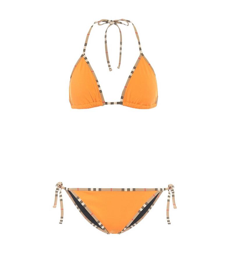 Burberry Vintage Check triangle bikini in orange