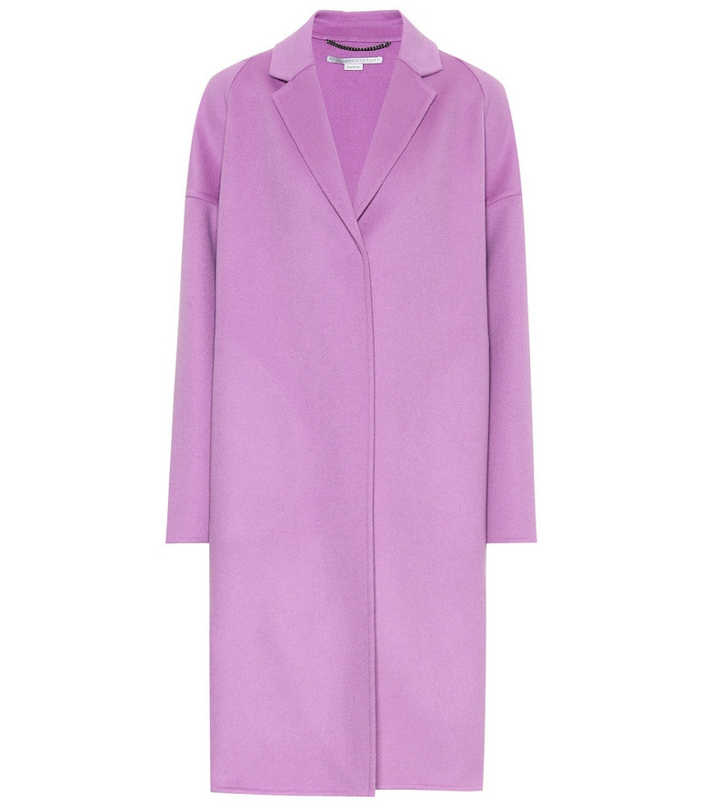 Stella McCartney Wool coat in purple