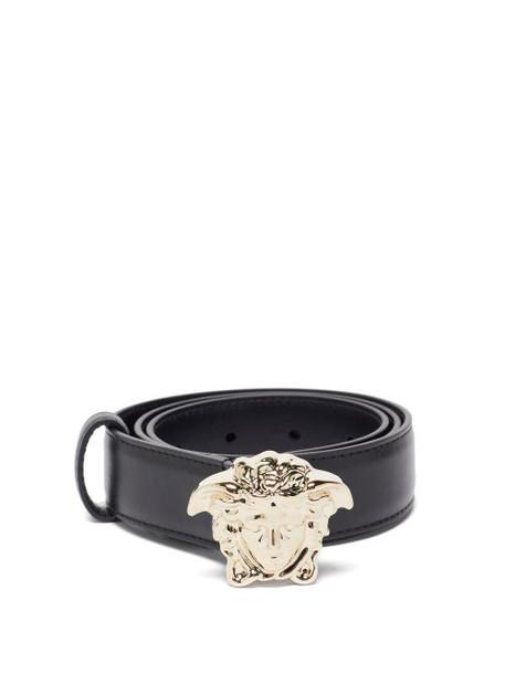 Versace - Medusa-buckle Leather Belt - Womens - Black