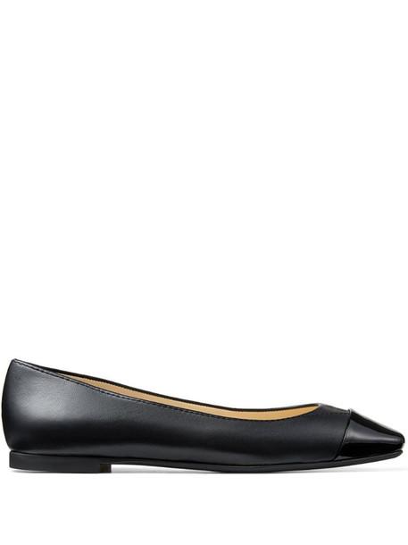 Jimmy Choo Gloris square-toe flats in black