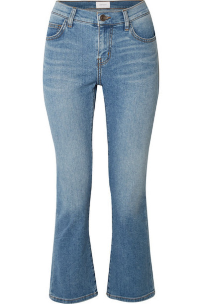 Current/Elliott - The Scooped Ruby Cropped Mid-rise Straight-leg Jeans - Light denim