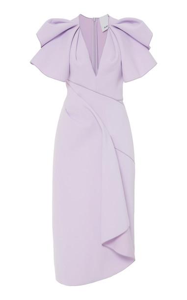 Acler Redwood Wrap Midi Dress Size: 2 in purple