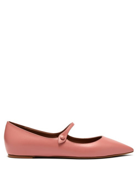 Tabitha Simmons - Hermione Leather Mary Jane Flats - Womens - Pink
