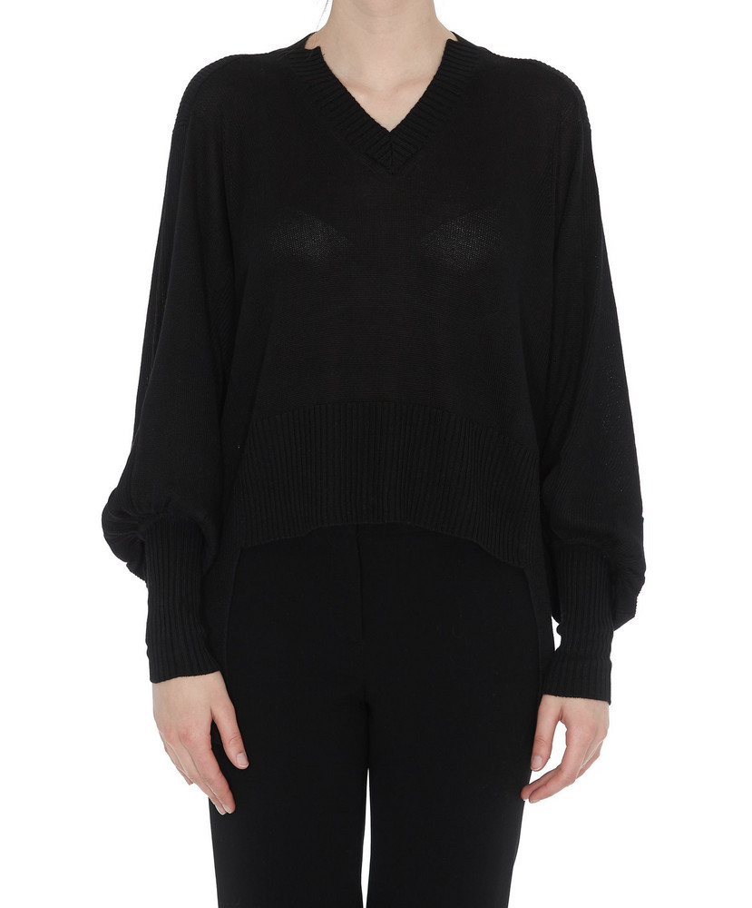 Maison Flaneur V-neck Jumper in black