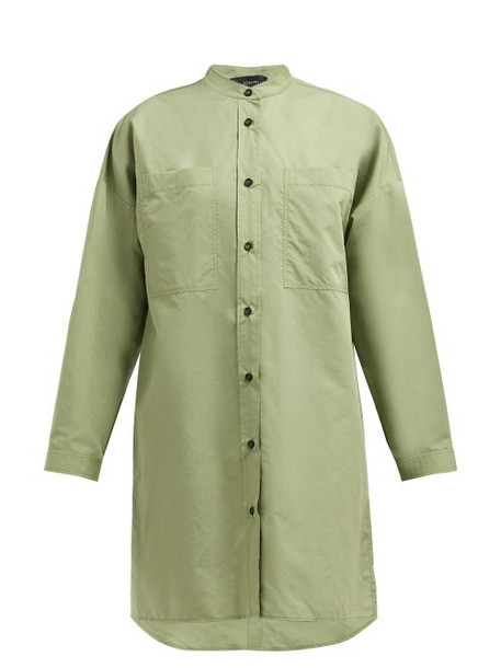 Joseph - Rollo Cotton Blend Poplin Shirtdress - Womens - Green
