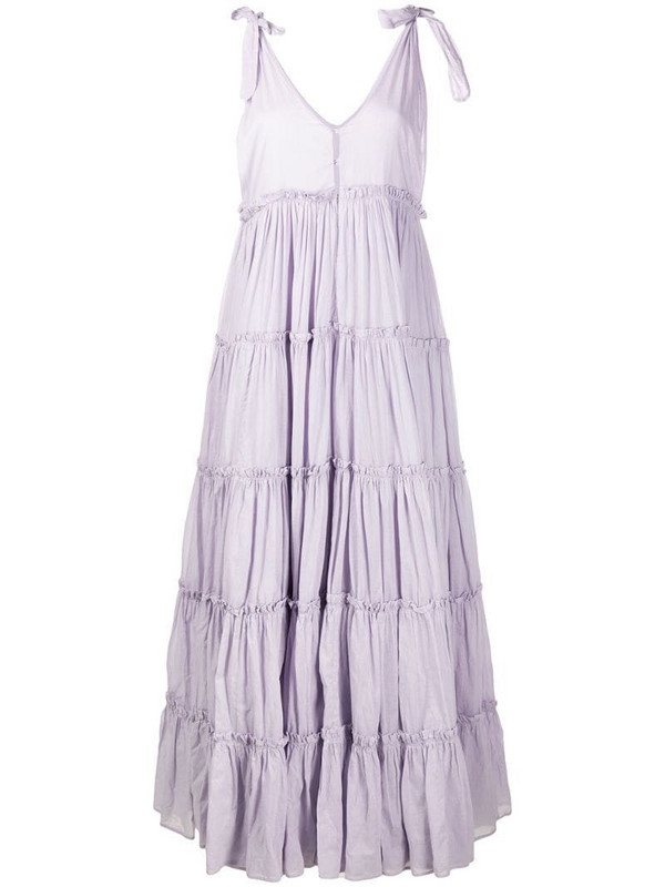 Innika Choo tiered flared maxi dress in purple