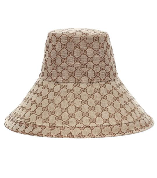 Gucci GG Supreme canvas hat in beige