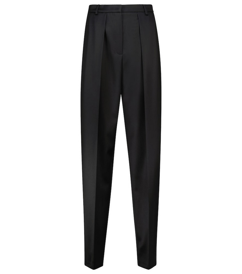Magda Butrym High-rise tapered wool pants in black