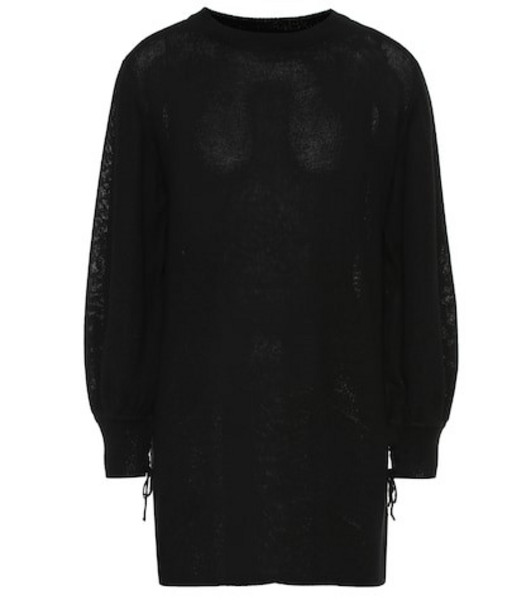 Ryan Roche Cashmere sweater dress in black