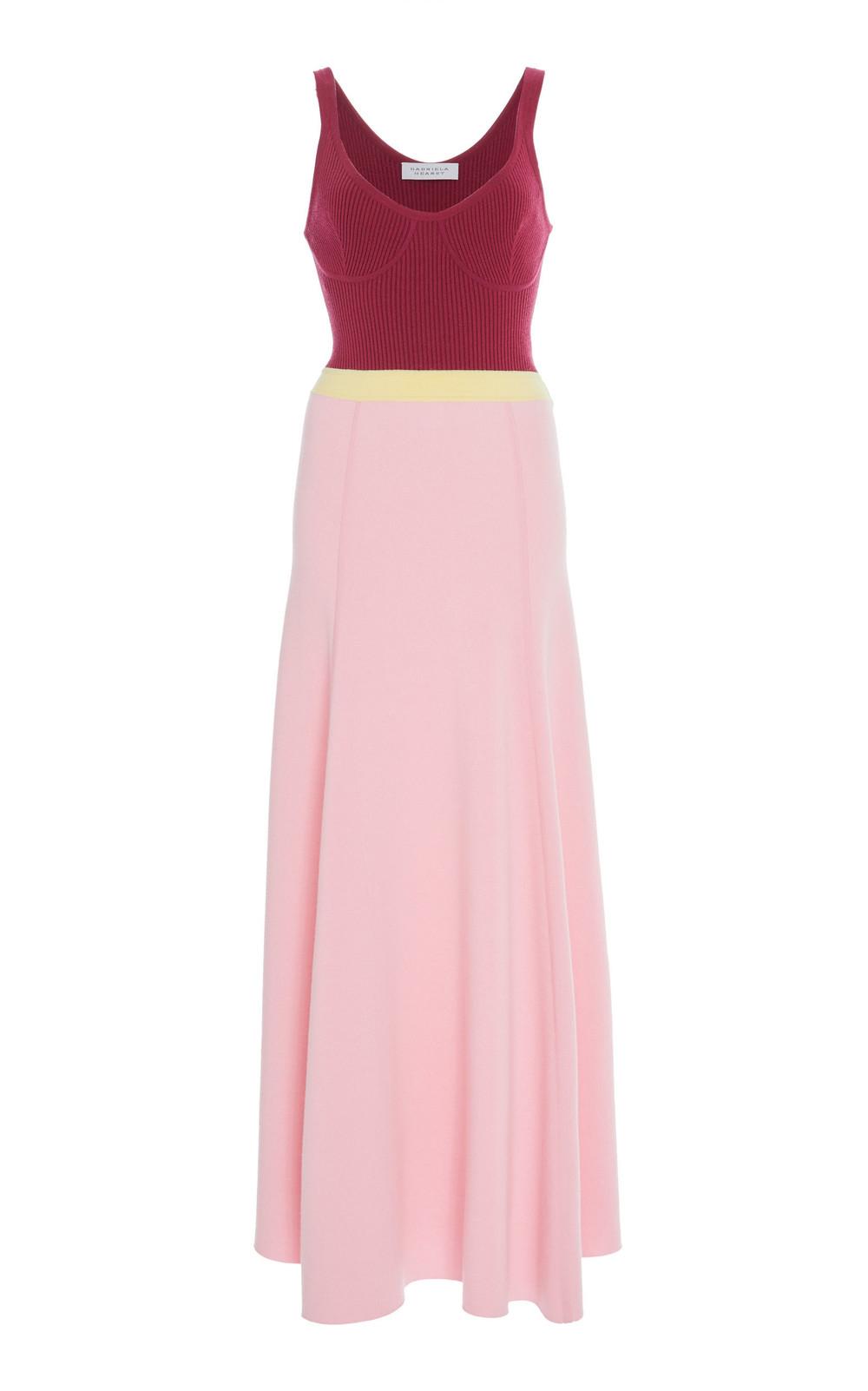 Gabriela Hearst Flaminius Virgin Wool Rib-Knit Dress in multi