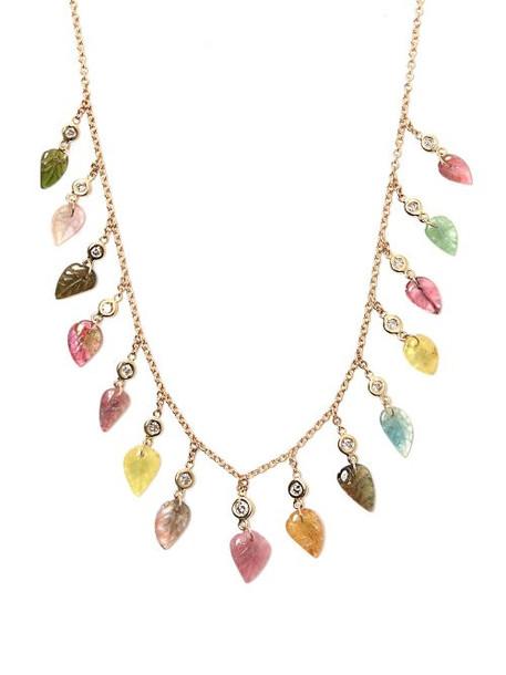 Jacquie Aiche - Diamond, Tourmaline & Gold Necklace - Womens - Multi