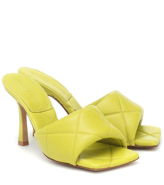 Bottega Veneta BV Lido leather sandals in green
