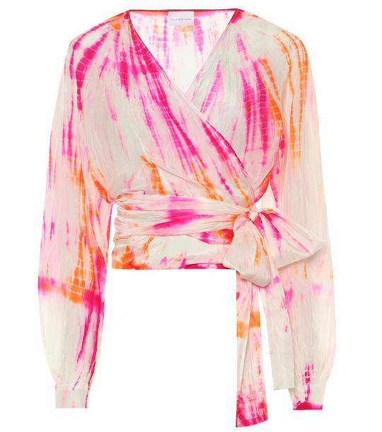 Anna Kosturova Exclusive to Mytheresa – Tie-dye silk blouse in pink