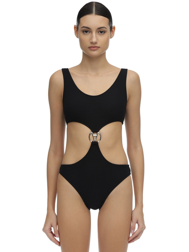 FILLES A PAPA One Piece Swimsuit W/ Cutouts in black
