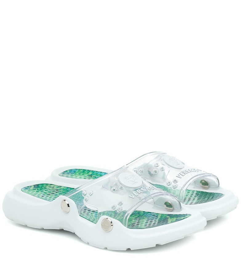 Versace Medusa PVC slides in white