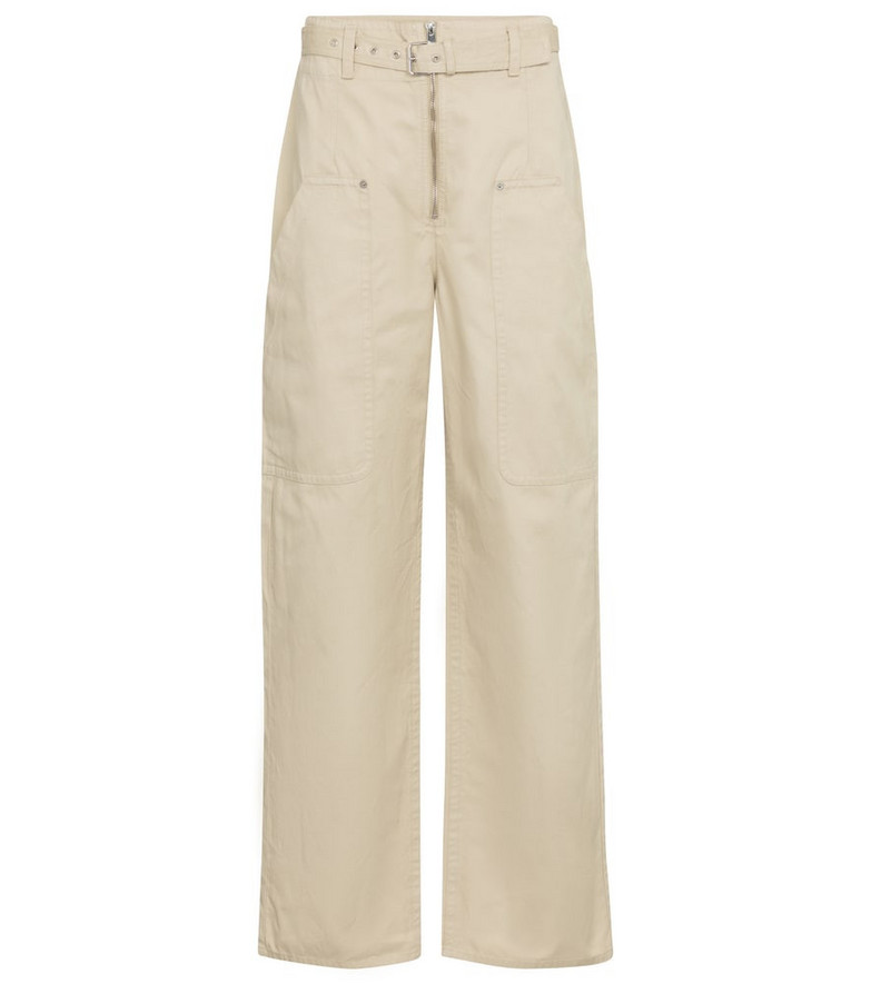 Isabel Marant, Étoile Paggy belted cotton and linen pants in beige