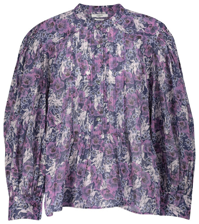 Isabel Marant, Étoile Adigra floral cotton blouse in purple